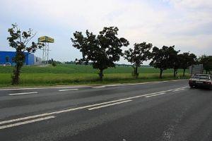 Pohled směrem, kudy by nová Jižní spojka v Hradci Králové měla vést. Pramen: ŘSD, dokumentace EIA