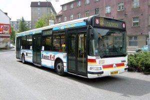 Autobus MHD v Karlových Varech. Foto: DPKV
