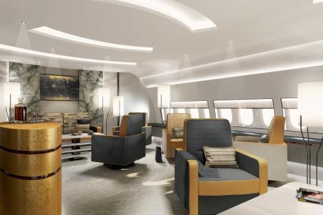 Vizualizace možné podoby BBJ 777X. Foto: Boeing