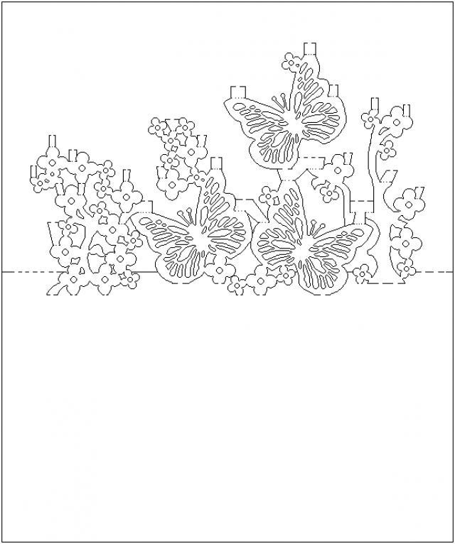 Открытки вырезанные из бумаги цветы и шаблоны к ним