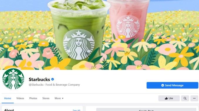 Starbucks във Facebook