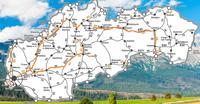 Mapa Autostrad Słowacja 2020