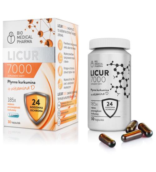 Licur 7000 płynna kurkumina 30 kapsułek + witamina C