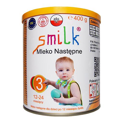 mleko następne dla dzieci SMILK 3 - 400g