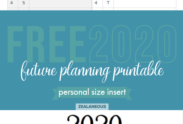 Free future planning printable personal inserts