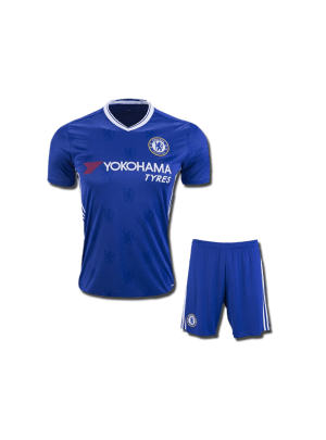 KIDS Chelsea Football Jersey And Shorts Home 16 17 Season