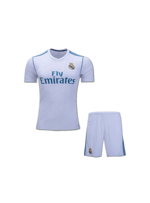 KIDS Real Madrid Football Jersey And Shorts Home 17 18 Season