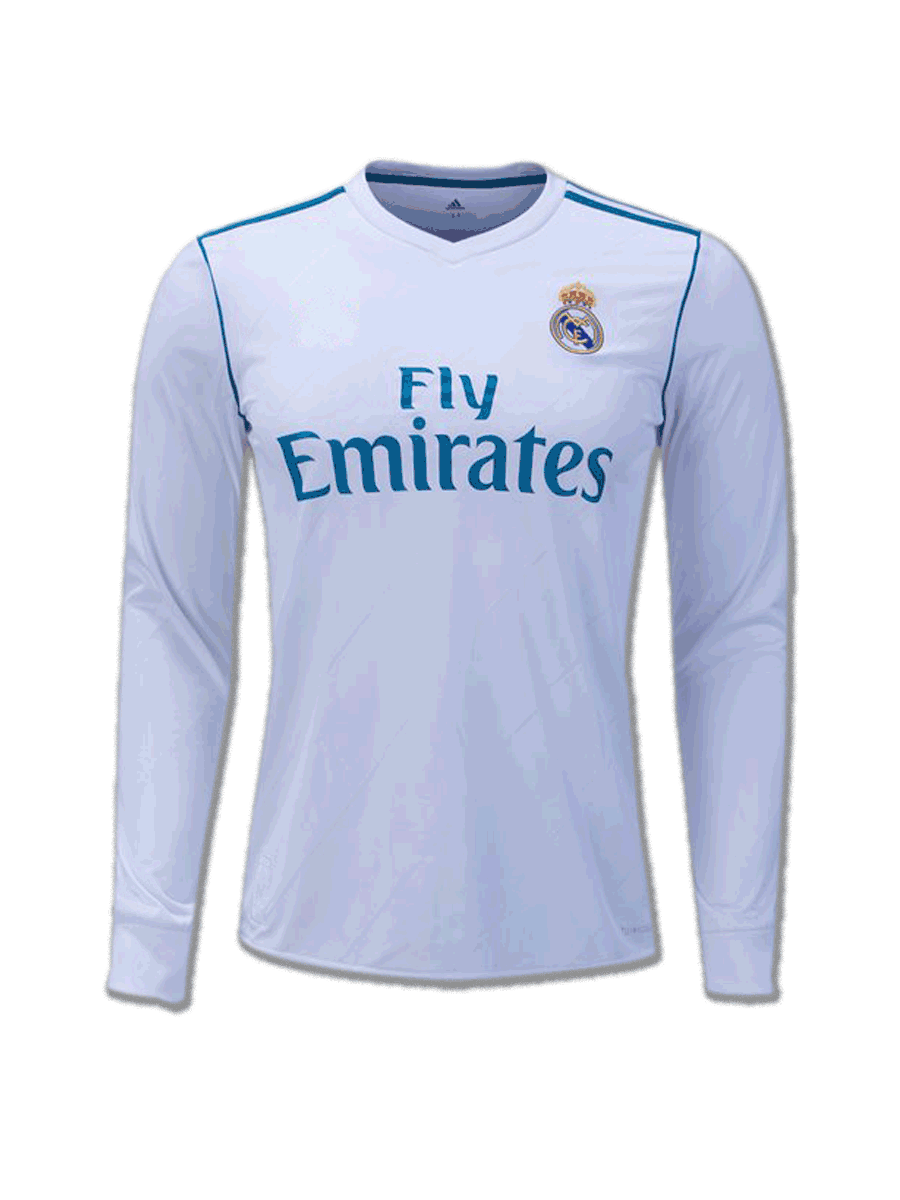 Real Madrid Long Sleeves Home Jersey 17 8 Season