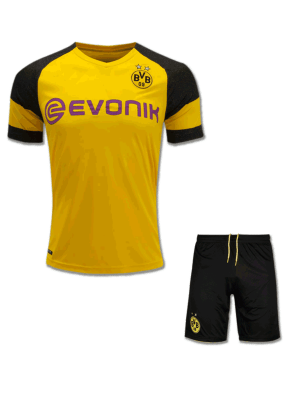 Borussia-Dortmund-Football-Jersey-And-Shorts-Home-18-19-Season
