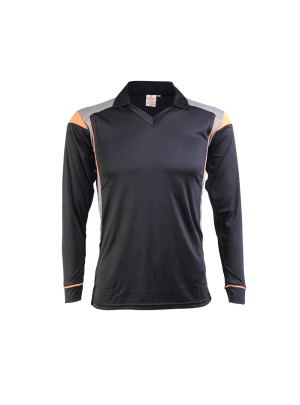 Black-Color-Cricket-Long-Sleeve-Jersey-Design-Front