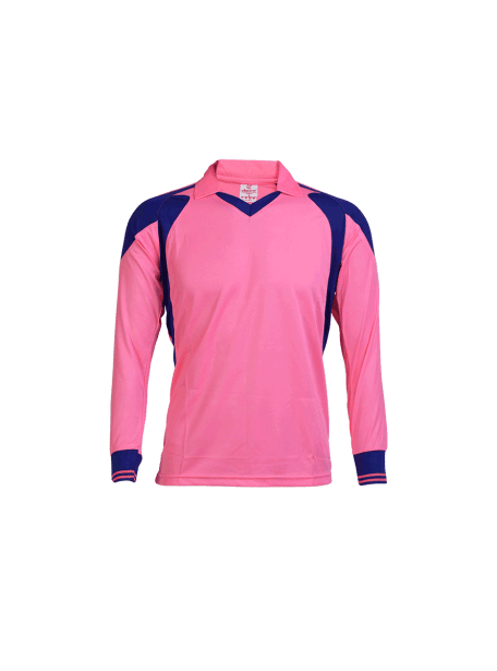 Pink-Color-Long-Sleeve-Sports-Jersey-Design-Front