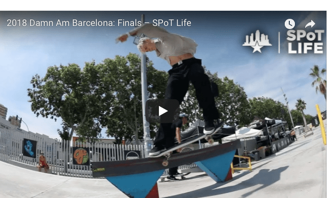 Street League skateboarding 2018 damn am barcelona