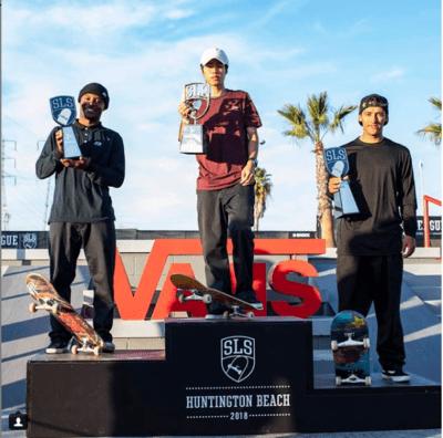 Yuto Horigome won SLS huntington-beach