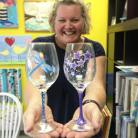 wine glass painting langley bc