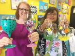 wine glass painting langley 2