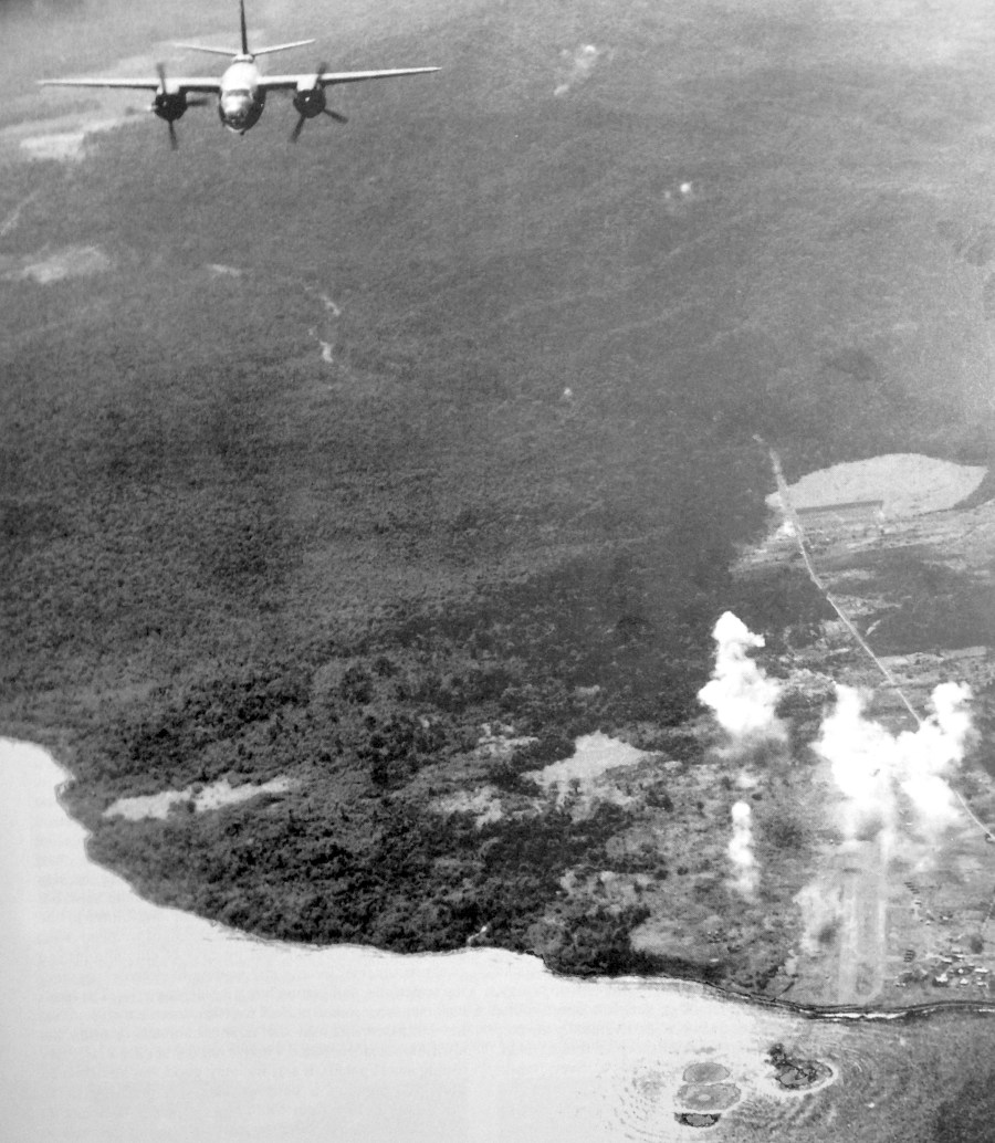 B-26s over Lae, New Guinea