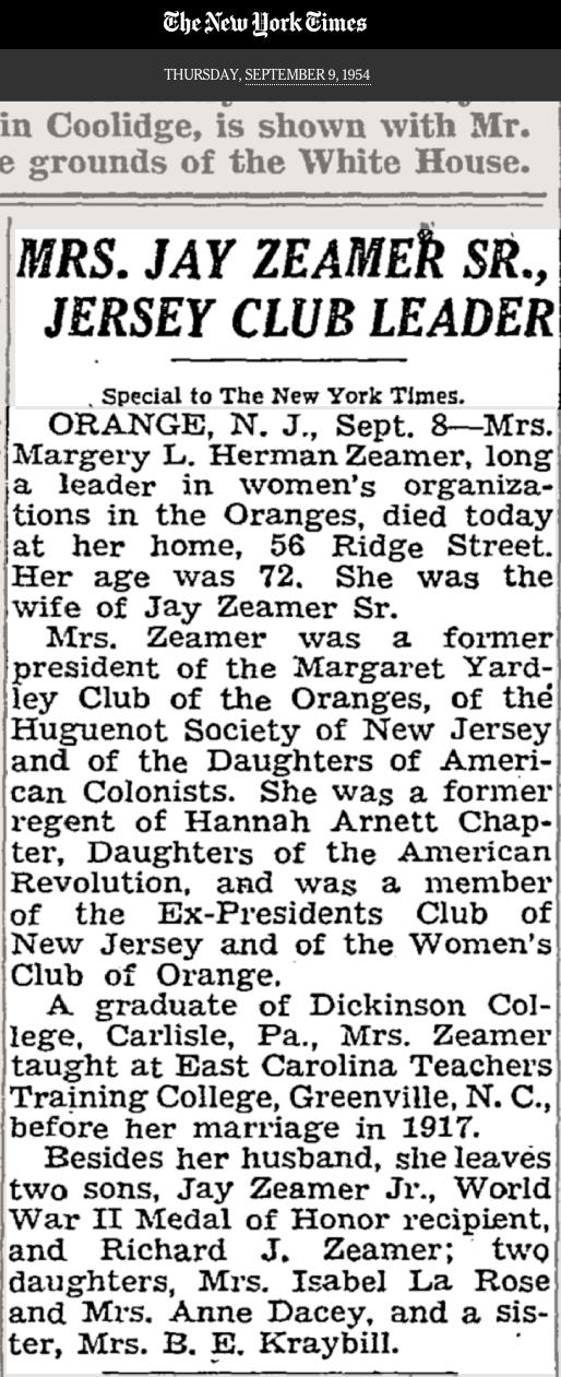 Obituary for Jay Zeamer Jr.'s mother