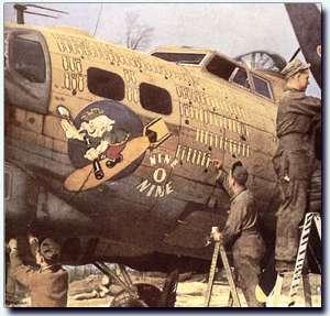 """Photo of the original B-17G """"Nine-O-Nine"""""""