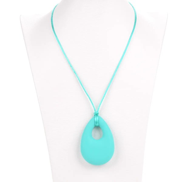 Keeley silicone tear turquoise pendant necklace