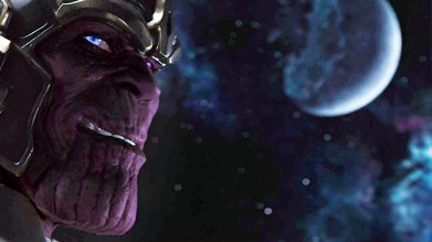Thanos looks just like in the comics