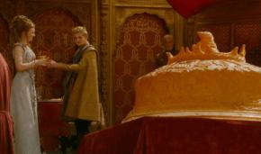 Joffrey le da su copa a Margery