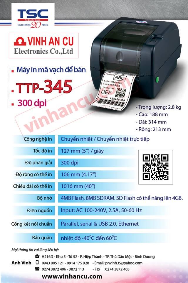 Mua máy TSC 99-127A003-30LF TTP-345 + peel off