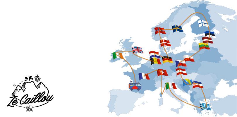 L'itinéraire de notre long roadtrip en europe en van autour des différents pays européens