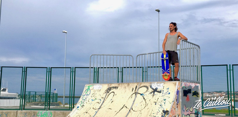 Sleep in Hondarribia on the spanish north coast, along the beach and have a little skate, Ze Caillou