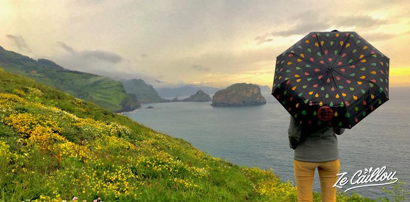 Un paysage d'Irlande au nord de l'Espagne près du mythique spot de surf de Machichaco