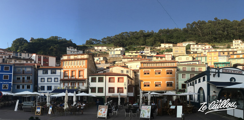 Port de Cudillero en Asturie où manger des très bons fruits de mer