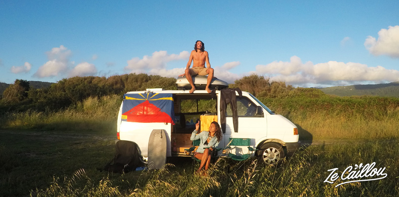 Vanlife, roadtripping in Portugal with a van close to Afife surf spot