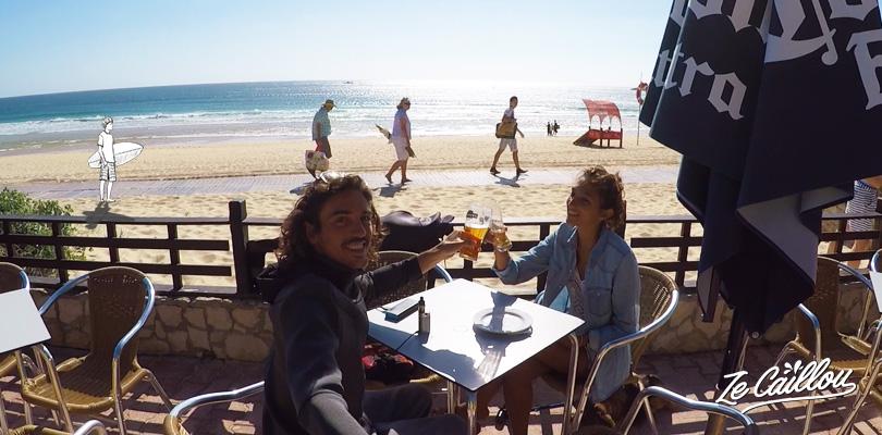 Le spot de surf de Peniche sur la côte du Portugal