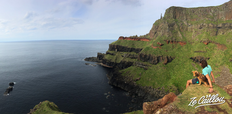 Great view of irish cliffs on the giant's causeway coast