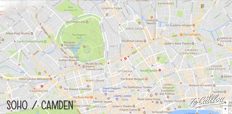 Discover a different London in the Soho and Camden districts in the Northern London