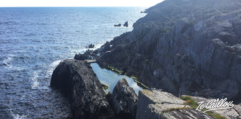 Fish or swim in the natural pool in the Crookhaven peninsula in the southern Ireland