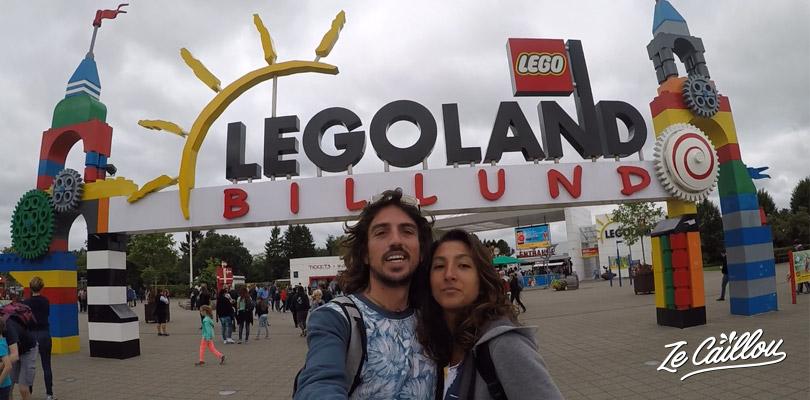 Entrée du parc Legoland à Billund au Danemark