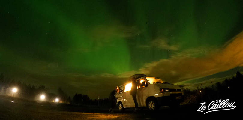 Nothern Lights hunt in Lapland during our roadtrip in Europe