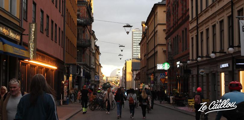 Baladez-vous dans les rues de l'île de Sodermalm à Stockholm en Suède.