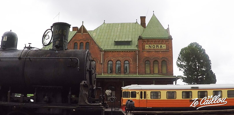 Visit the train museum in Nora a little town of Sweden
