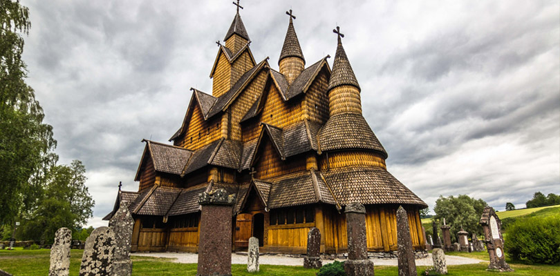 The amazing wooden church of Heddal, a viking testimony