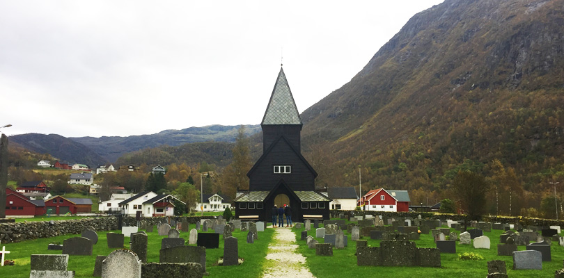 The wooden church of Roldal close to Odda in Norway