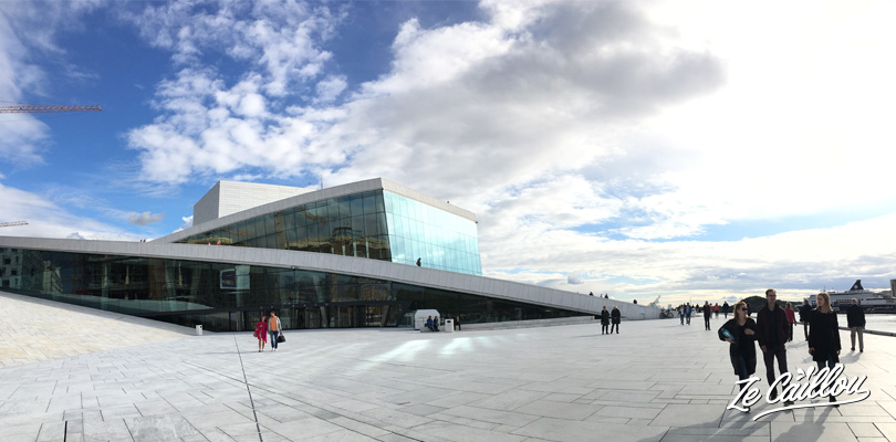 Le bel Opéra d'Oslo, capitale cosmopolite de la Norvège.