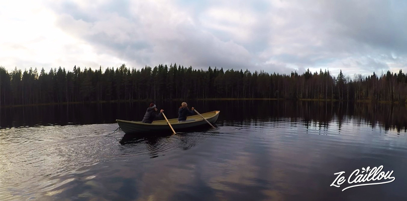 Let's go for a small boat trip on the private lake of our finnish cottage in Kaajani, Finland.