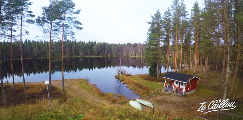 Go fishing with your private boat on a lake in front of our finnish cottage on Finland.