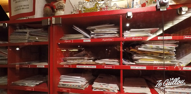 Post your christmas postcards from the santa claus post office in Rovaniemi, Finland.