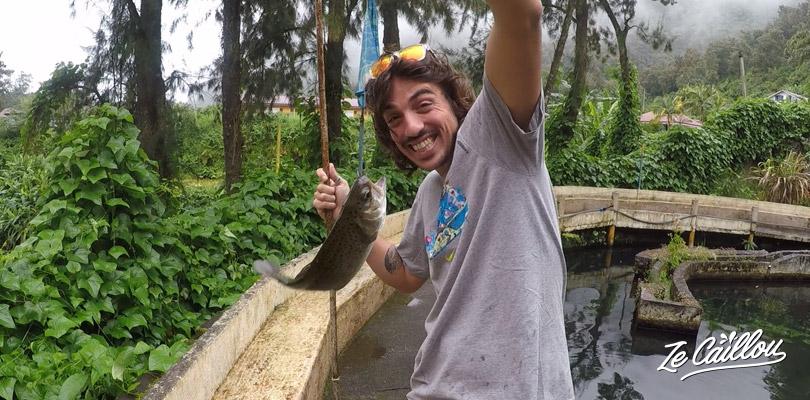 Partir à la pêche à la truite à Salazie, pour un moment fun et détente.