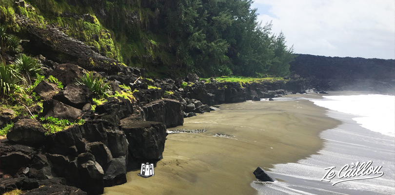 Have a look on the young and green Tremblet beach close to the lava tunnel visit in La Reunion.