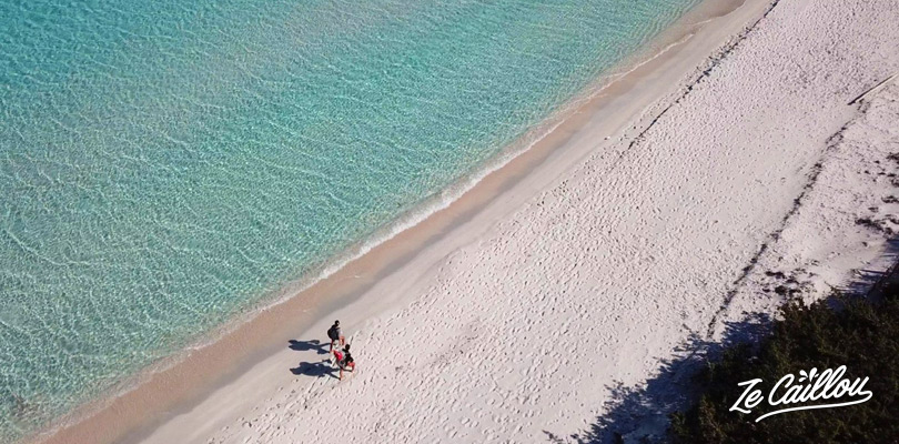 La magnifique plage de Saleccia dans le désert des agriates en haute Corse.
