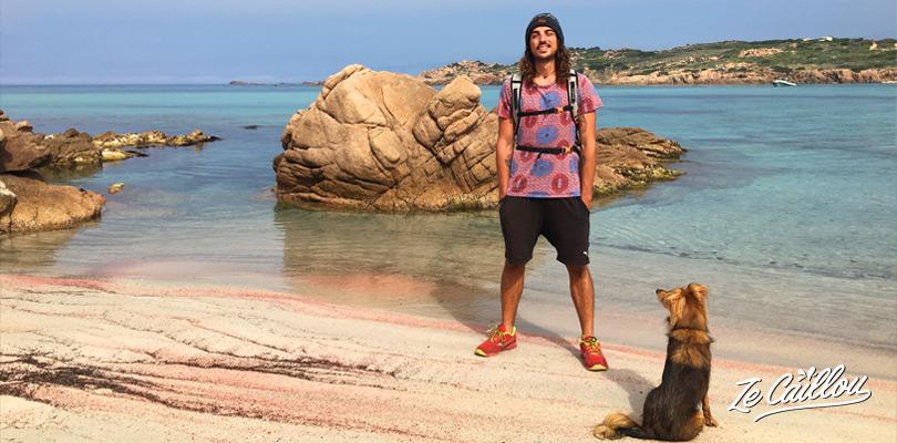 Stagnolo beach, during the walk from Tonnarra to Capo di Fenu in Corsica.