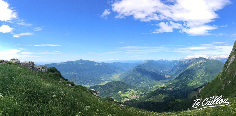 Beautiful panoramas when hiking the Mount KRN instead of Mount Triglav in Slovenia.
